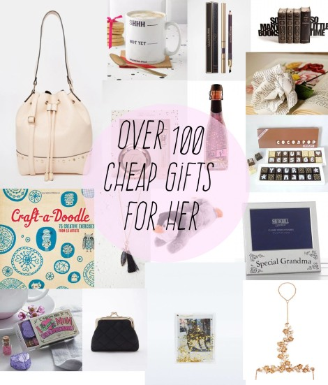 over 100 cheap gift ideas for her