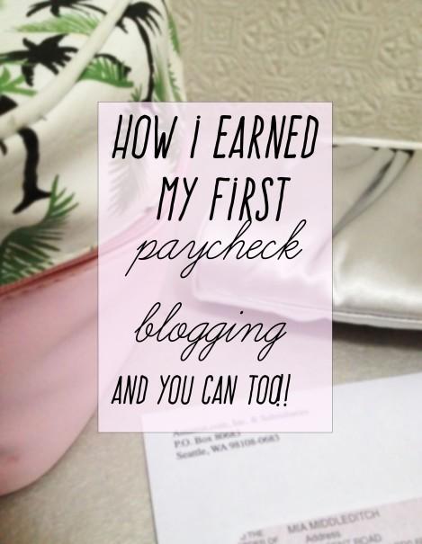 how i earn money as a blogger