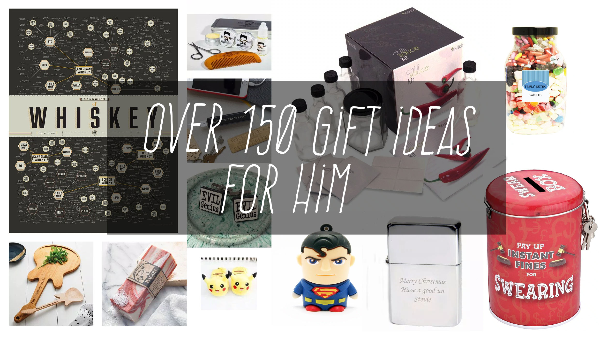 over 150 christmas gift ideas for him