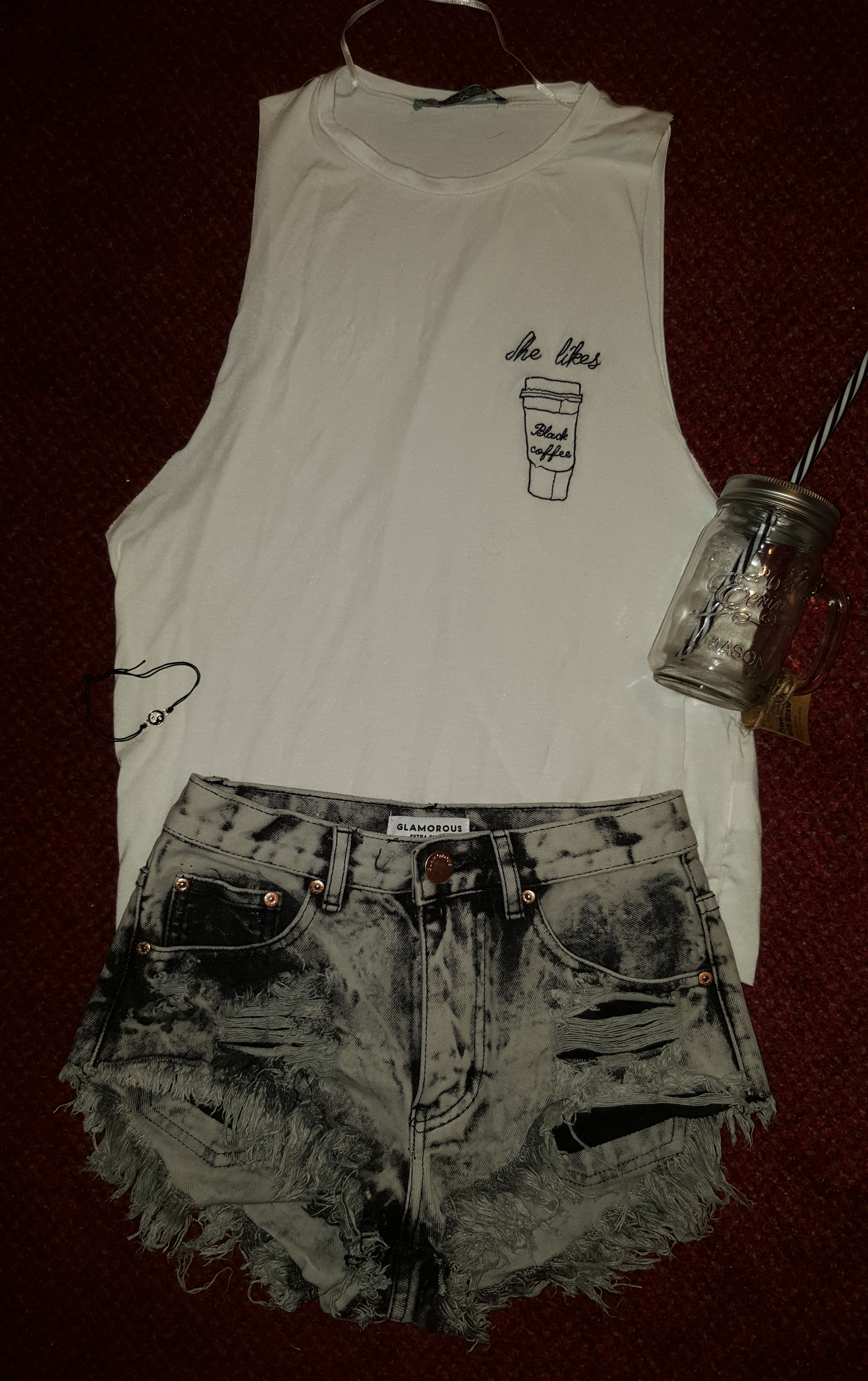 pull and bear embroidered vest