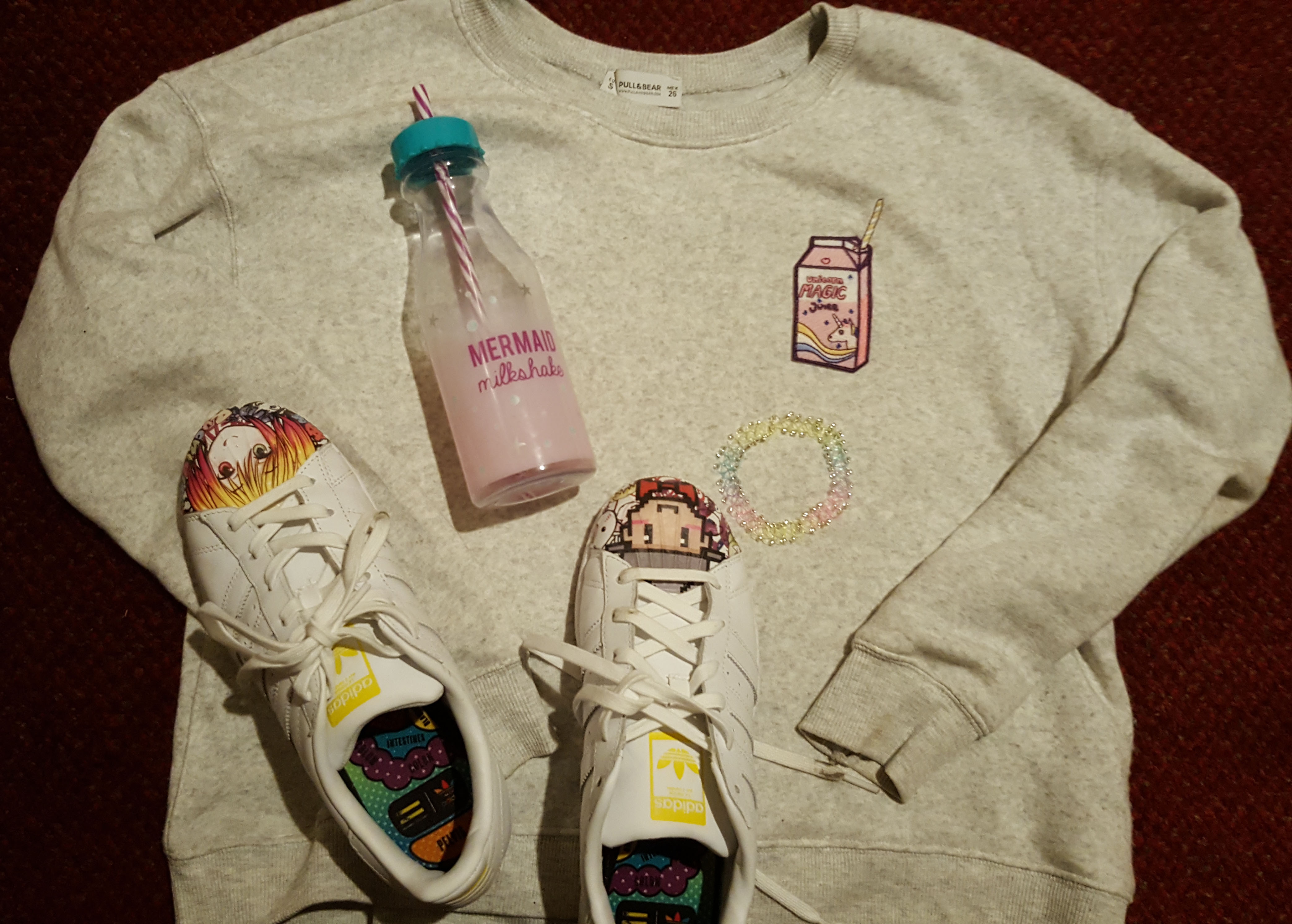 pull and bear unicorn kawaii outfit idea