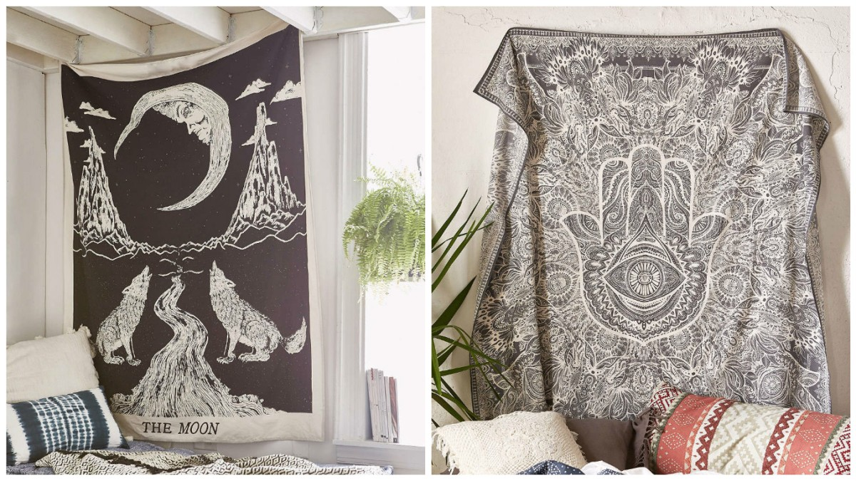 bedroom witchy spiritual tarot cards tapestry