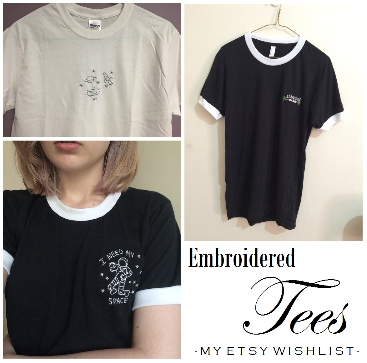 ETSY WISHLIST GRUNGE EMROIDERED TEES