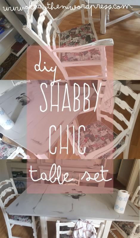 diy shabby chic table set