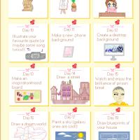 { 30 Day Creative Self-Improvement Challenge }