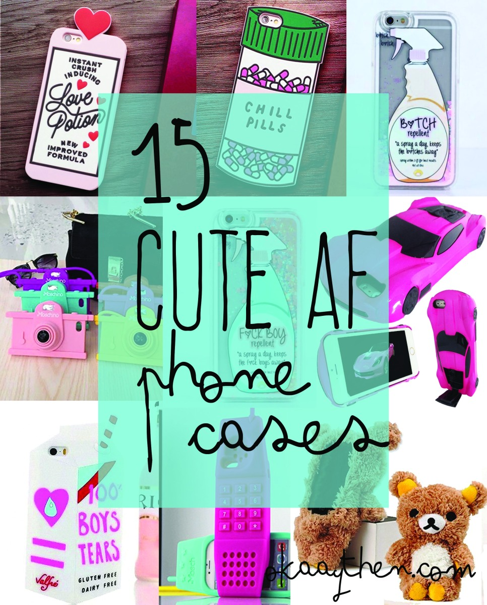 { 15 Quirky, Cute and Downright Cool Phone Cases For Teen / Young Adult Girls }