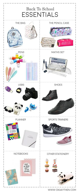 back to school essentials for high school teen girls
