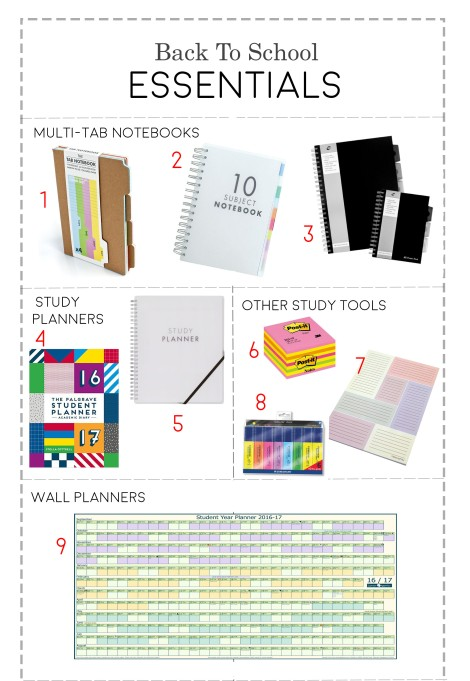 smart practical stationery for back to school gcses a-levels
