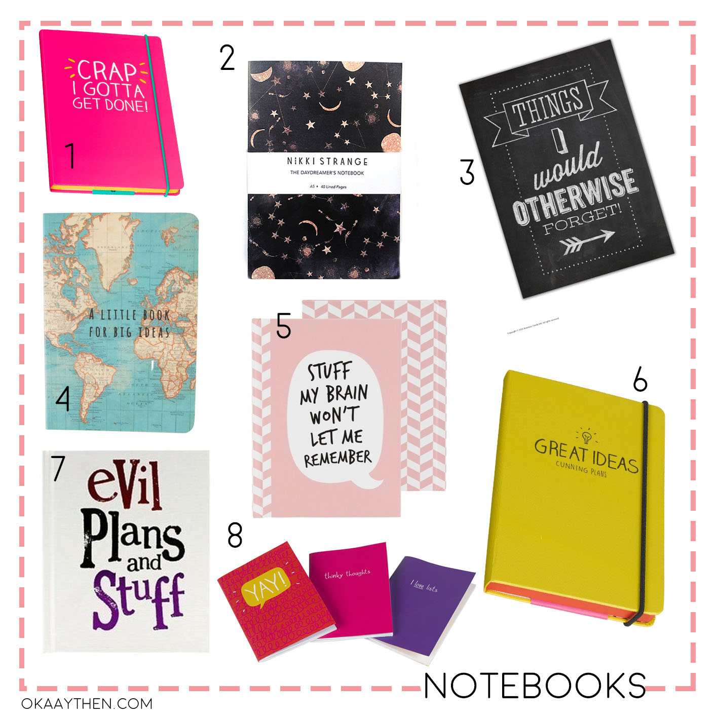 teen girls back to school notebooks