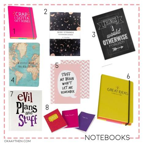 teen girls back to school notebooks