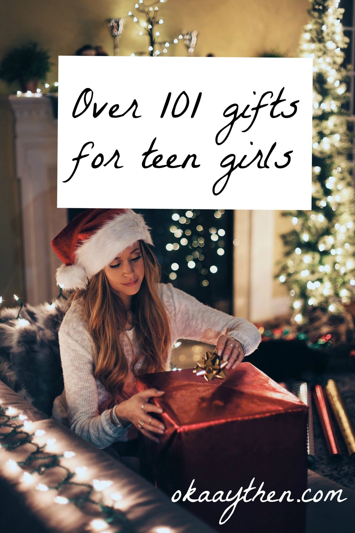 A brilliant list of over 100 gift ideas for teen girls, absolutely perfect for birthdays and Christmas!